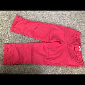 Woman's Capri red khaki pants size 8